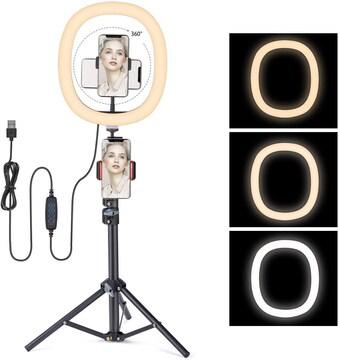 LEDリングライト撮影用12インチ 3色「送料無料」
