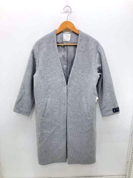 And Couture(アンドクチュール)19AW ノーカラーウールコートコート