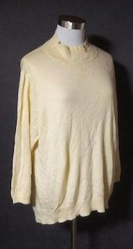 クリーム色セーターニット6L大きいサイズ