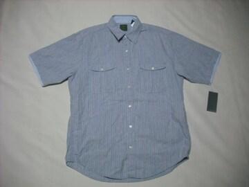 32 男 TIMBERLAND ティンバーランド 半袖ストライプシャツ M