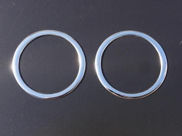 クロームメッキエアコンリング 鏡面 エヌワン N-ONE 2P