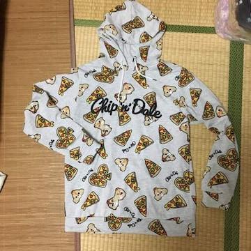 ディズニー・チップ&デールピザ柄パーカープルオーバーLL4L