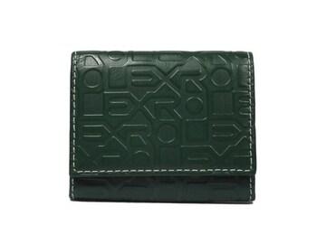 正規未使用ロレックスコインケース小銭入れメンズレザー緑非