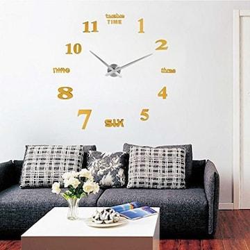 掛け時計 手作り DIY 壁時計 インテリア ゴールド