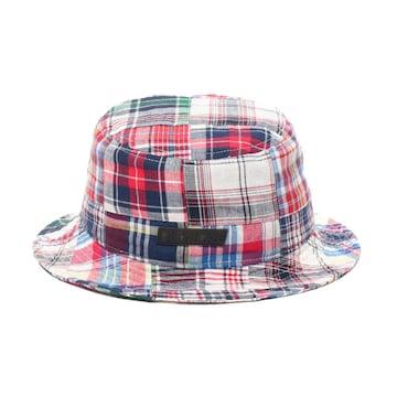 新品 アトモス ATMOS LAB チェック柄ハット キャップ帽子