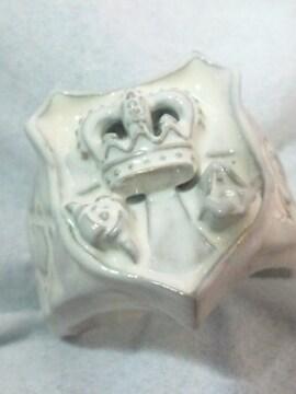 ガウディ ジュエリー【Gaudi】ホワイト エンブレム クラウン リング 16号