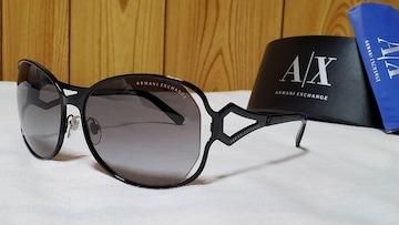正規未 ハイド着 同型 アルマーニエクスチェンジ グラマラスメタル サングラス黒 A/Xロゴ