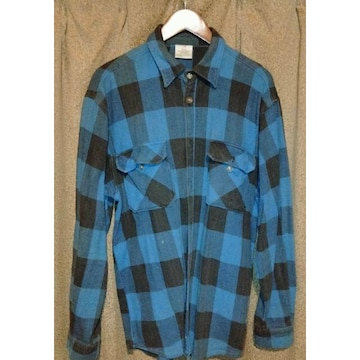 送料無料 ロスコ フランネルチェックシャツ(厚め生地)XL