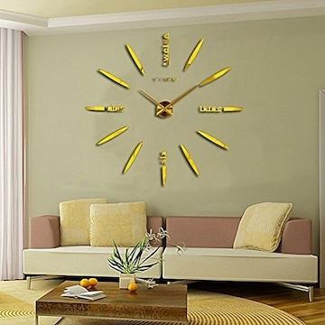 掛け時計  手作り DIY 北欧 ゴールド