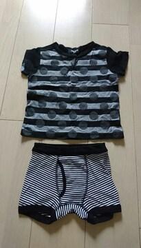 コムサイズム Tシャツとノーブランドパンツ サイズ100A