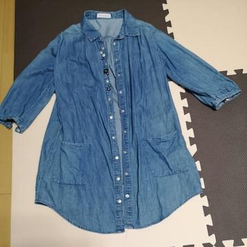 デニムシャツ(五分袖)