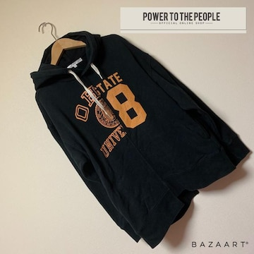 ☆POWER TO THE PEOPLE ハーフ&ハーフデザインパーカー☆