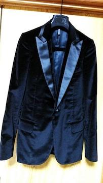 正規美 レア Dior Homme ディオールオム スモーキングジャケット黒 ベルベット 最小38