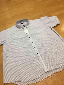 MARIO  ESPERANZA  ビジネスボタンダウンストライプ半袖Yシャツ  size7LB  1