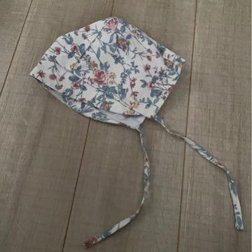 韓国子供服ベビチビ花柄ボンネット美品帽子
