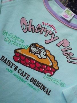 デイジーラバーズ薄水色チェリーパイ 七分袖Tシャツ120