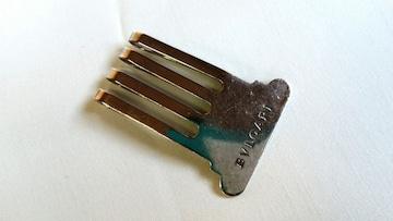 正規 廃盤 ブルガリ BVLGARI ロゴ文字マネークリップ SV925 財布 カードケース