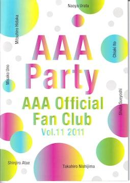 AAA Party●ファンクラブ会報誌 2011年 Vol.11●新品