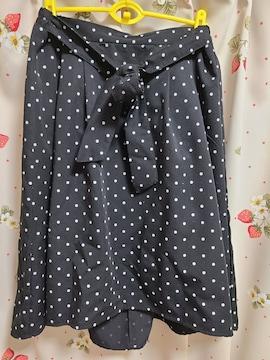 水玉柄スカート3L