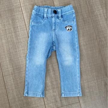 グラグラ男女OKデニム80長ズボン美品