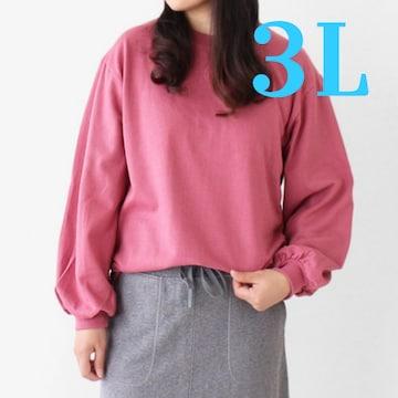 LLXL3L¥3280新品☆裏起毛バルーン袖スウェット8