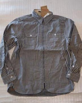売り切りセール/Houston/ヒッコリーワークシャツジャケット/nv/XL