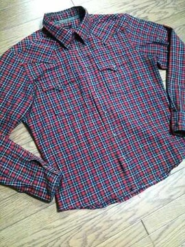 美品291295=HOMME チェックシャツ 3 日本製