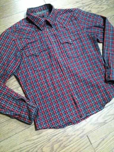 美品291295=HOMME チェックシャツ 3 日本製   < ブランドの