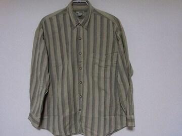 即決USA古着鮮やかストライプデザインネルシャツ!アメカジヴィンテージ