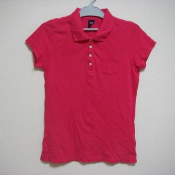 GAP ギャップ S 濃ピンク ポロシャツ 半袖