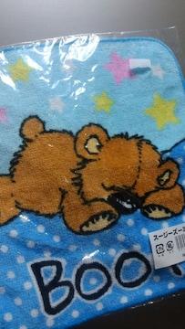 """新品★「スージーズー」おやすみ""""クマさん""""柄ミニタオル"""