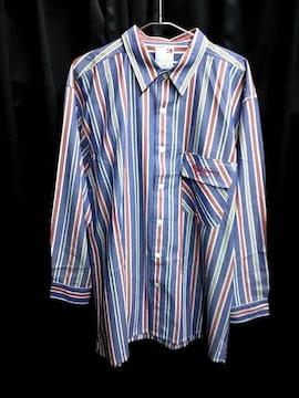 セール新品pepejeans★ストライプロングシャツ★ビッグシルエット長袖