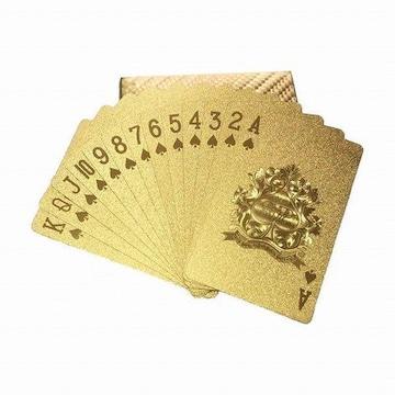両面 ゴールド プラスチック トランプ 1/BN1