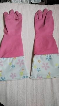 カラフルゴム手袋Sピンク