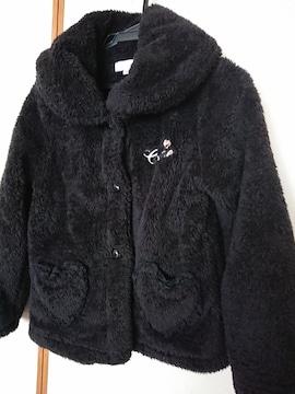 CRTCUTIE☆大流行ボアジャケット、黒150