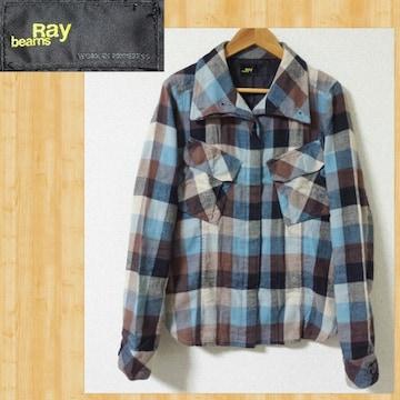Ray BEAMS レイビームス ポケットが可愛い ネルシャツ