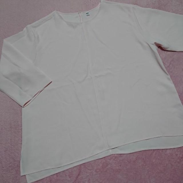 LLXL3L¥2189☆とろみ七分袖ドレープブラウス < 女性ファッションの