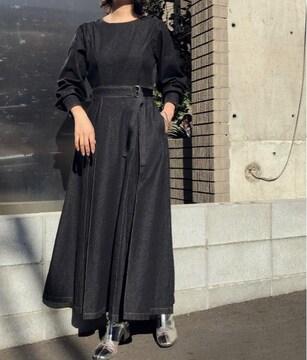 新品☆&g'aime(アンジェム)ステッチデニムロングワンピース☆