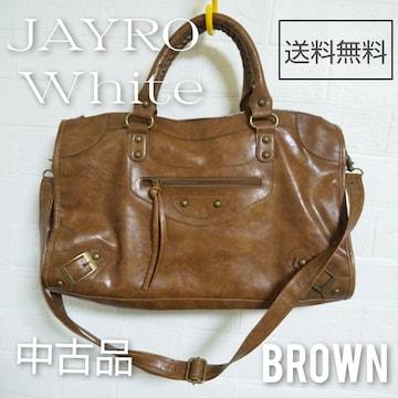JAYRO White【ショルダーベルトあり】エディターズ2wayセレブ