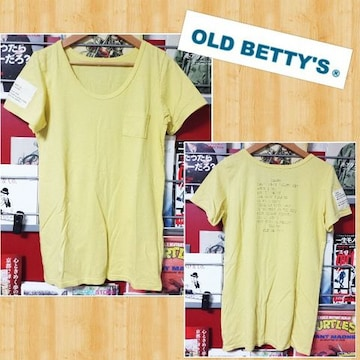 OLD BETTY'S オールドベティーズ Tシャツ 超美品 日本製 胸ポケ