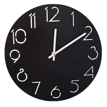 壁掛け時計 アナログ02-black