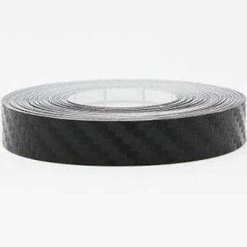 カーボンブラック 1cm x 6m ハッピークロイツ テープ式 カーラッ