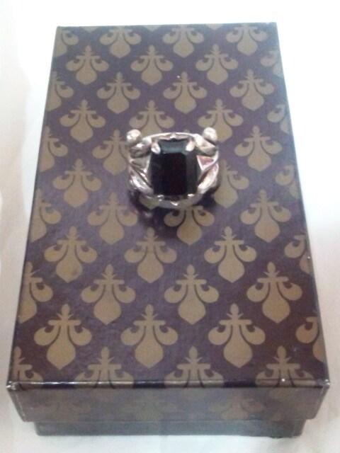 パトリックコックス【PATRICK COX】925シルバー ブラック ストーン 重厚 リング 15号 < ブランドの
