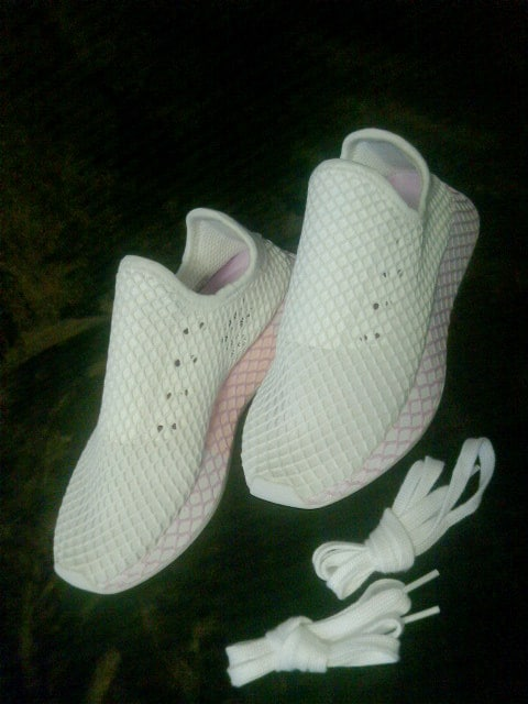 adidas★激カワ★2wayスニーカーピンク白★新同★アディダス★ < ブランドの