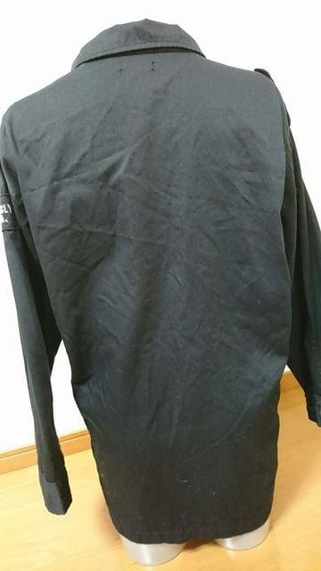 大きいサイズミリタリージャケット袖ワッペン3Lブラック < 女性ファッションの