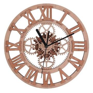 壁掛け時計 アナログ  ギア
