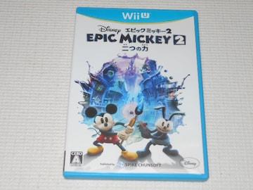 Wii U★ディズニー エピックミッキー2 二つの力★箱付・ソフト付
