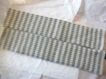 ITOHKYU ロング手袋ウールアンゴラ指の出るタイプボーダー