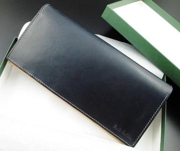 新品☆箱付 ポールスミス 高級イタリアンレザー 長財布 ネイビー