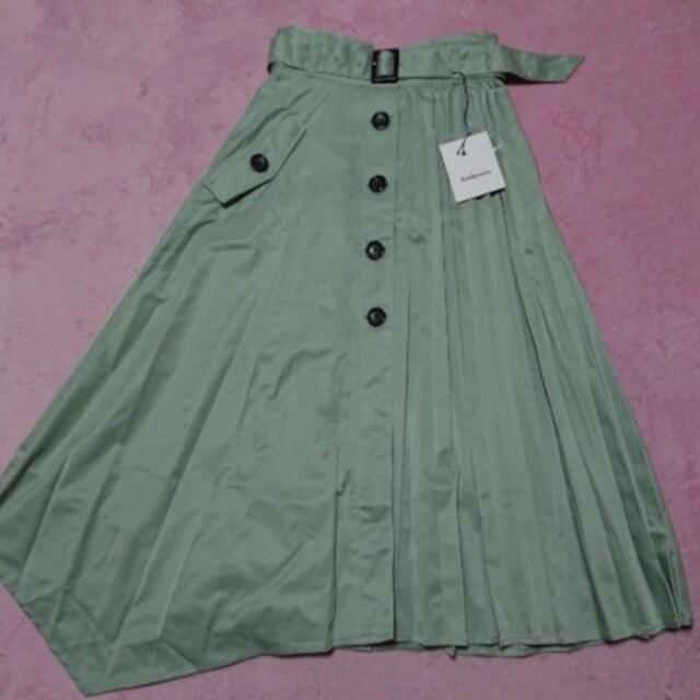 S¥9612新品☆プリーツ切替アシメフレアスカート101 < 女性ファッションの